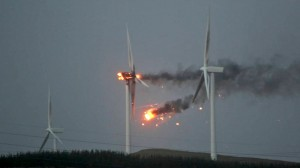 Wind Turbine Fire Picture